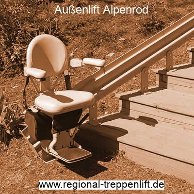 Außenlift  Alpenrod