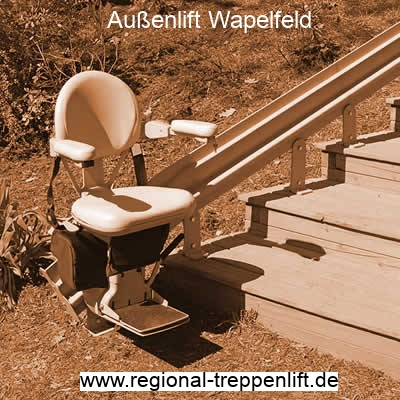 Außenlift  Wapelfeld