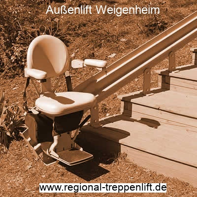 Außenlift  Weigenheim