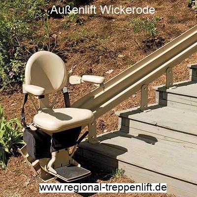 Außenlift  Wickerode