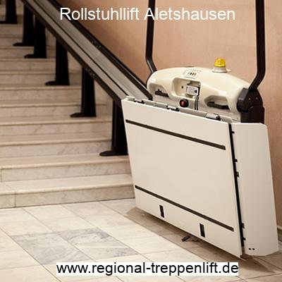 Rollstuhllift  Aletshausen